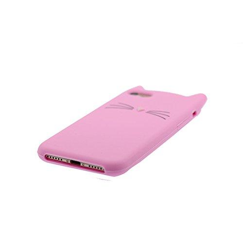 3D gatto | iPhone 6S Custodia, Gomma morbida del silicone case cover Gocce dassorbimento di scossa Defend Anti Scratch protettivo Copertura per iPhone 6/6s 4.7 Color 5