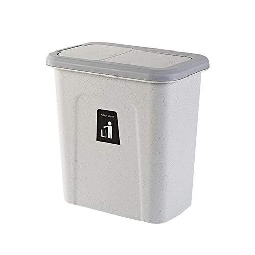 ZAK168 Abfalleimer zum Aufhängen in der Küche, Abfalleimer für Großraum-Staubschränke mit Deckel, multifunktionaler Abfalleimer zum Platzsparen, Über die Schranktür hängen Mülleimer (Space Papierkorb Saver)