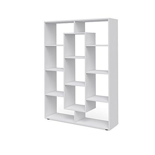 *VICCO Raumteiler 11 Fächer Bücherregal Standregal Aktenregal Hochregal Aufbewahrung Regal (Weiß)*