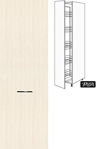 #Küchenschrank Hochschrank Apothekerschrank 154cm hoch FE (Breite 40cm, 18 Woodline creme)#