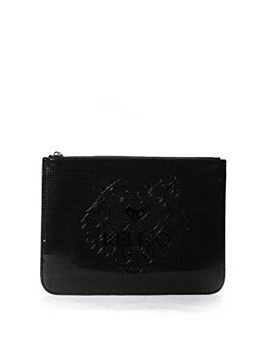 kenzo-womens-f752sa607f0599-black-pvc-clutch