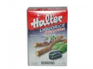 Bonbons Réglisse sans sucre 40g Halter