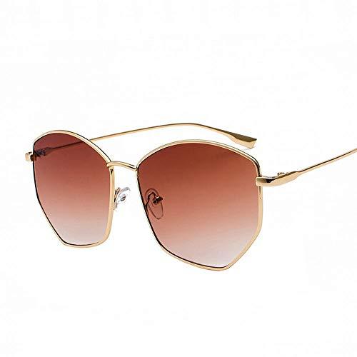 Easy Go Shopping Unregelmäßige Flache Linse Brille Brillenglas Brillenglas 60mm. Sonnenbrillen und Flacher Spiegel (Farbe : Braun)