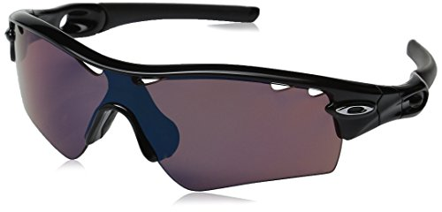 Oakley Herren 0Oo Radar Path 09-760 33 Sonnenbrille, Schwarz (Polished Black Iridium Polarized Vented),