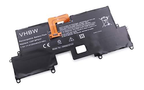 vhbw Batterie Li-Polymer 4120mAh (7.5V) pour Notebook Ordinateur Portable Sony SVP11216CW, SVP11217PW, B, SVP1121ZPWR, VAIO Pro 11 comme VGP-BPS37.