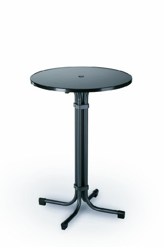 Best Multiflex Table de bar ronde Diamètre 80 cm Diamètre : 80 cm - Hauteur : 110 cm charbon