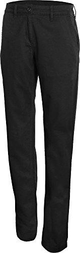 Pantaloni chino donna - 250 g/m² - Donna Black