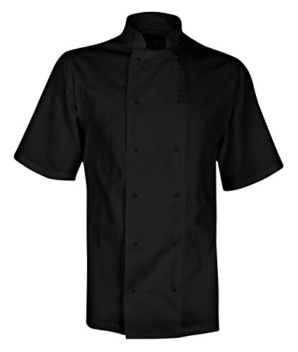 chefs-short-sleeve-jacket-shirt-white-or-black-xs-4xl-m-black