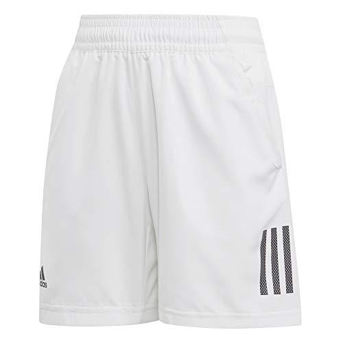 adidas Jungen Club 3-Streifen Shorts, White/Black, 164 - Leichte Tennis-shorts