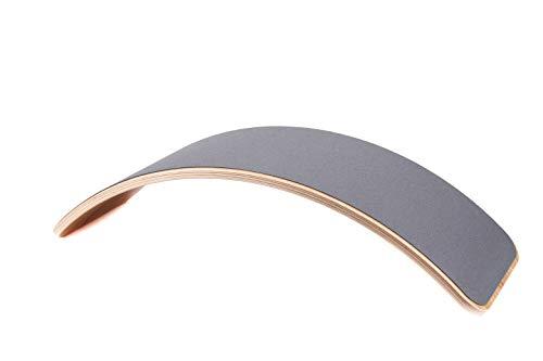 Wobbel Balanceboard transparent lackiert mouse grau yogaboard