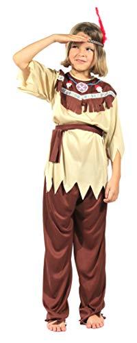 Brandsseller Kinder Kostüm Verkleidung für Karneval Fasching Halloween- Indianer L