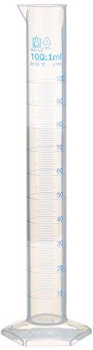 neolab 1613éprouvette graduée électronique, forme haute, 100ml: 1ml PP, 6pans Pied