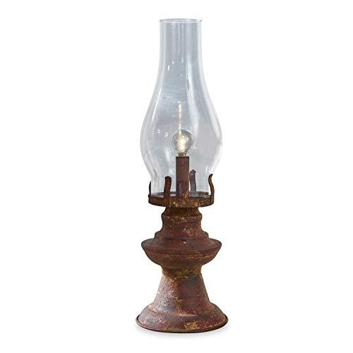 Loberon Laterne Quinn, Glas/Eisen, H/Ø ca. 36,5/11,5 cm, klar/antikbraun