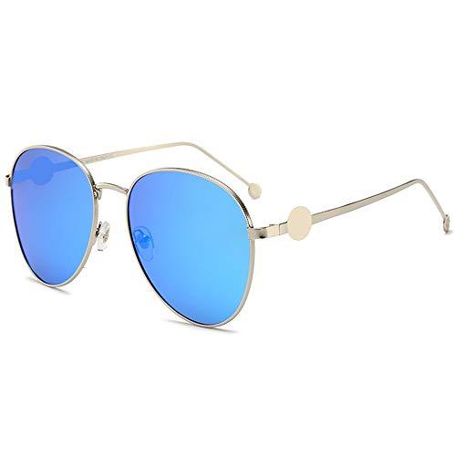 Shengjuanfeng-brillen Mode Marine Film Sonnenbrille Damen transparent Frosch Spiegel Polarisierte Sonnenbrille Accessoires (Farbe : Blue)