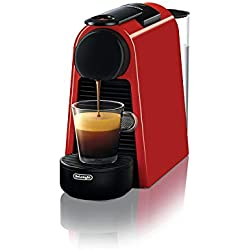 Nespresso De'Longhi Essenza Mini EN85.R - Cafetera monodosis de cápsulas Nespresso, compacta, 19 bares, apagado automático, color rojo