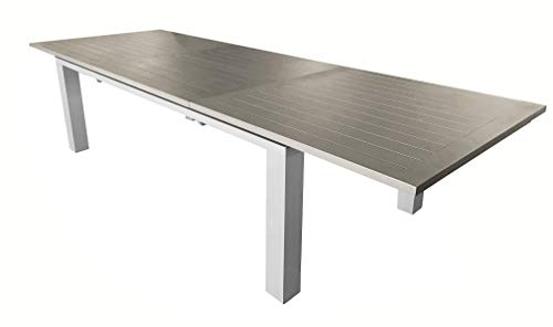 Proloisirs Table en Aluminium avec allonge Elisa 240 cm