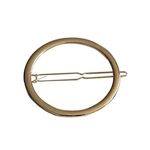 Stirnband Schmuck Zubehör Antike Runde Hoop Haarnadel Pferdeschwanz Inhaber Haarspangen Kamm Clip Zubehör für Mädchen und Mädchen (Color : Gold)