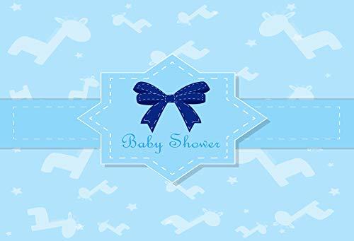 Kate 7X5ft (2,2 X 1,5 m) Blau Baby-dusche Kulissen Fliegende Giraffe Hintergründe Stern Kulissen Feier Fotografie für Kinder Fotostudio