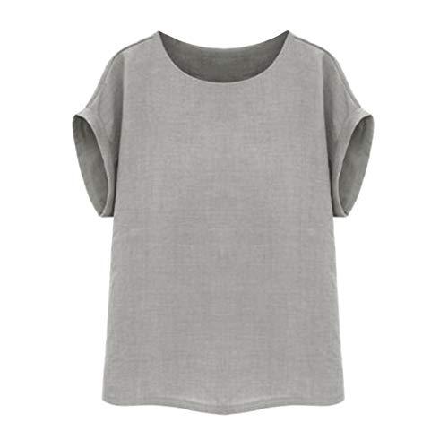 Frauen Vintage Kurzarm Baumwolle Leinen Beiläufige Lose Crop Tops Westen Bluse Sommer neu Shirt