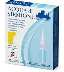 Terme di Sirmione, Acqua Di Sirmione Minerale Naturale 6 Flaconcini Da 15 ml