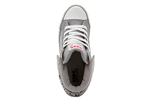 British Knights  Roco, Sneakers Basses femme Gris clair/vert/fuchsia