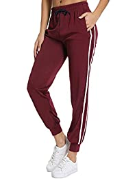 fb7c0e683fa79b FITTOO Damen 2 Gestreift Streifen Freizeithose Jogginghose Hose Sportswear  Style