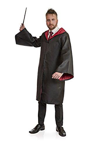 (Hirsch Suits Deluxe magiern schwarz Gewand Umhang Kostüm)