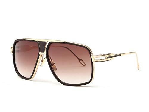 MoHHoM Sonnenbrille Sonnenbrillen Für Herren Neueste Vintage Big Frame Goggle Sommer Style Brand Design Sonnenbrillen Braun