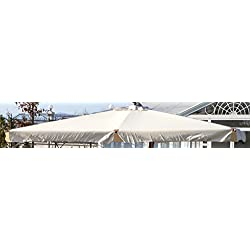 GIARDINI DEL RE 2569Toile de Rechange pour Parasol excentré, 290x 390x 2cm, écru