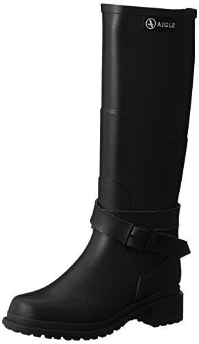 Aigle Damen Macadames Gummistiefel, Schwarz (Noir), 41 EU Double Strap Ankle Boot