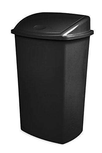 Cep 2919490020 Poubelle à Couvercle basculant Plastique 73L, Noir, 36,5 x 46,5 x 75 cm