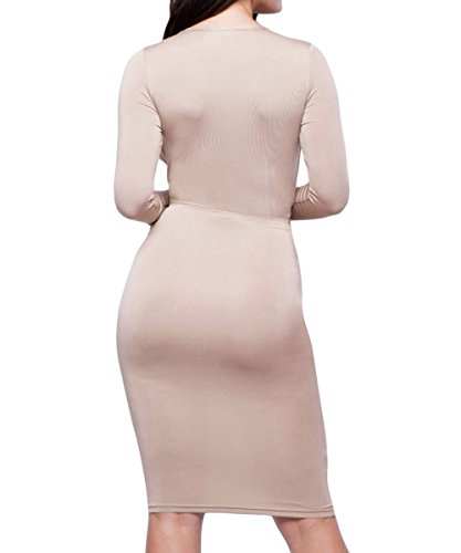Dissa S1161262 femme Sexy Robe moulante Beige