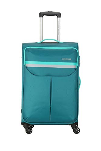American Tourister Detroit Polyester 81 cms Teal Softsided Check-in Luggage (FK0 (0) 11 003)