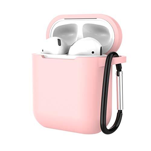 TianranRT Silikon Anti-verlorene schützende Abdeckung Haut Fall für Apple AirPods mit Ohr Haken (Rosa,Taste) (Apple Für Erwachsene Kostüm)