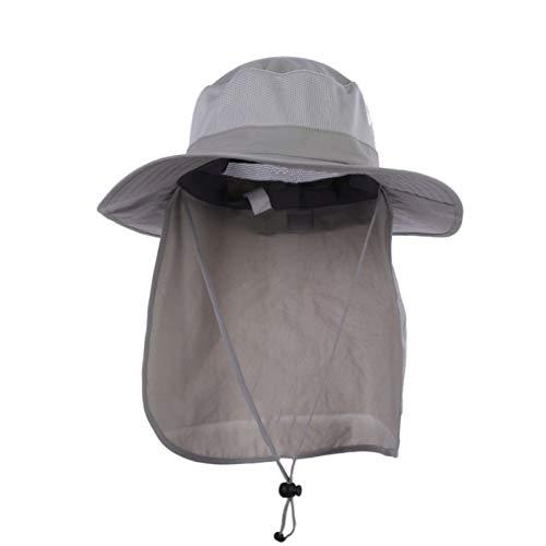 JOYOTER Unisex Breathable Neck Face Flap breiter Krempe Schnalle Hut Sonnenschutz Anti-UV Cap Camping Angeln Visier Hut