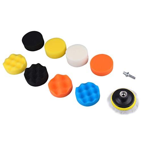 Jasnyfall 10 stücke 3 Zoll multifunktions Welle Schwamm Ball Auto polieren schönheit Werkzeuge Selbstklebende wachsen Wolle Rad Set Kits für Automotive (Multicolor) -