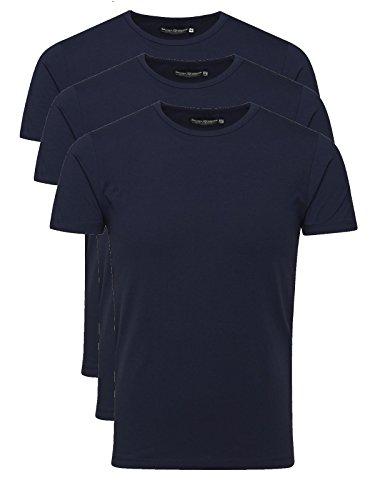 JACK & JONES - Basic V-Neck, T-shirt da uomo,  manica corta, collo a v 3er v-neck blue