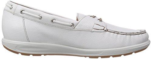 Ganter Grace, Weite G, Mocassins (loafers) Femme Blanc - Weiß (weiss 0200)
