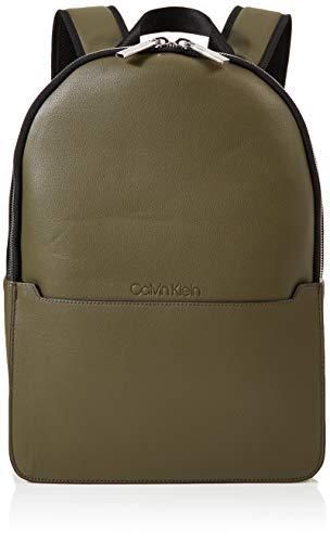 Calvin Klein Herren Sliver 2g Round Backpack Rucksack, Grün (Camouflagefluoyellow), 14x40x28 cm