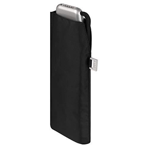 doppler Taschenschirm Carbonsteel Slim Uni - Handliches Format - Federleicht - 22 cm - Schwarz