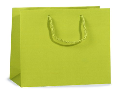 Lime Matte Gift Bags Mediummini-Pk 13X5X10 inch (Metallic Lime Stoff)