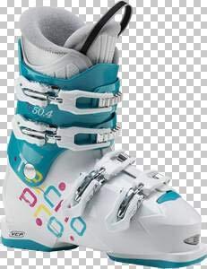Tecnopro Kinder Ski-Stiefel G50-4, AQUABLAU/Weiss, 26, 5 Skistiefel, Aqua blau, 26.5