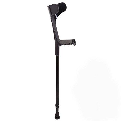 XCJ Muñeca de antebrazo con muletas Muletas para diversión con antideslizante Personas con discapacidad Muleta antideslizante,Negro