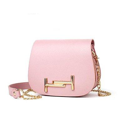 Damenmode PU Leder Schulter Messenger Bags/Handtasche Blushing Pink