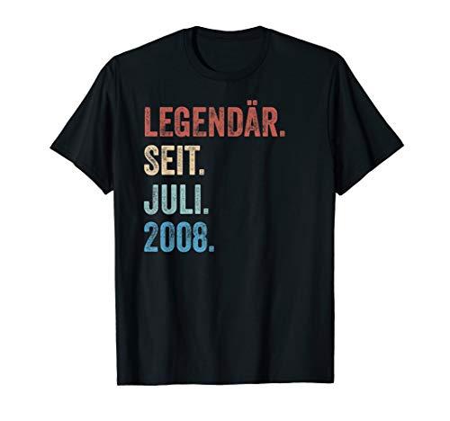 11 Geburtstag Geschenk Legendär Seit Juli 2008 T-Shirt -