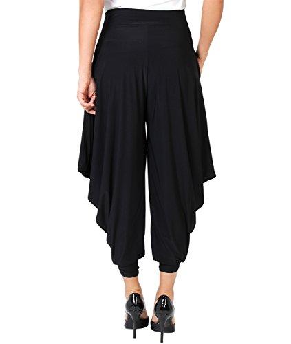 KRISP® Damen Freizeithose Haremshose im Orientalischen Stil Schwarz (8328)