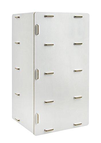 Bxt Staccabile Desktop Storage Box In Legno Mensola Portaoggetti Fai Da Te  Per Ufficio Storage Portariviste Porta CD Da Scrivania Gancio Rack White  Maple