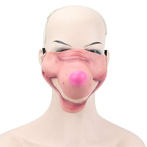 (Takefuns Halloween Maske Erwachsene Funny Wild Maske Masquerade COS Latex Hälfte Gesicht Maske, Plastik, A7, A7)