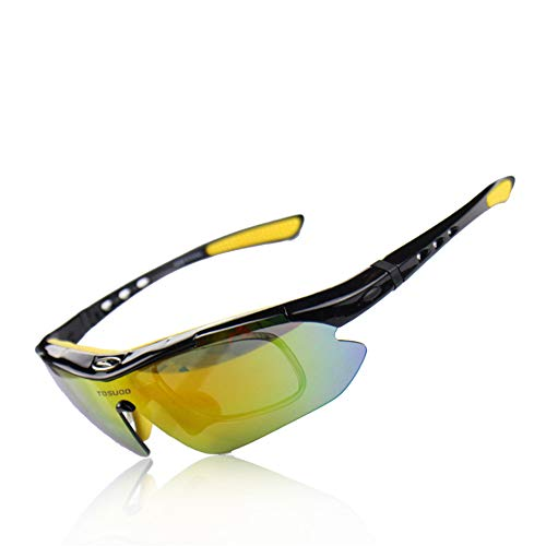 Sonnenbrillen Mode Farbe Anzüge Sport Sonnenbrillen für Radfahren Laufen Brillen Outdoor Radfahren Wind Brillen Radfahren Polarisierte Gläser können fünf kurzsichtige Objektiv Sonnenbrillen tragen
