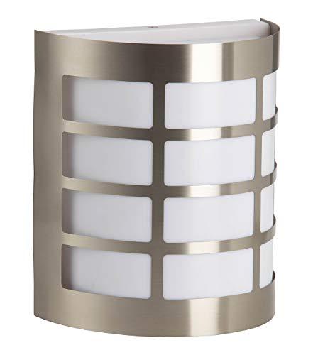 Brilliant Rune Außenwandleuchte spritzwassergeschützt edelstahl, 1x E27 geeignet für Normallampen bis max. 60W